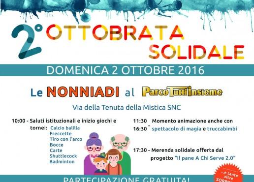 """Al via la 2° edizione della """"Ottobrata Solidale"""" con le Nonniadi al Parco Tutti insieme"""