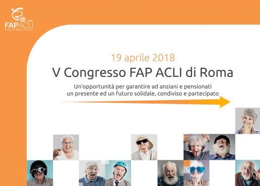 V congresso della Fap ACLI di Roma: ruolo della terza età centrale per il rilancio città