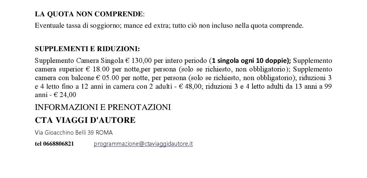 Emejing Tassa Di Soggiorno Roma Images - dairiakymber.com ...